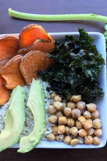 sweet and salty vegan bowl