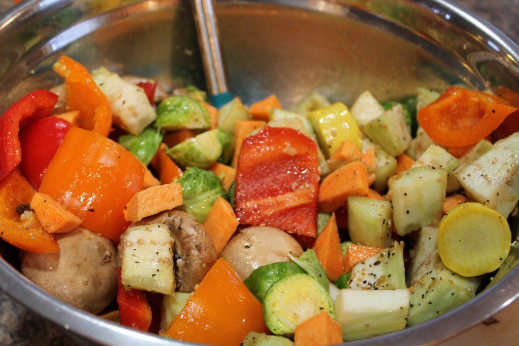 Oven Roasted Veggie Bowl Prep