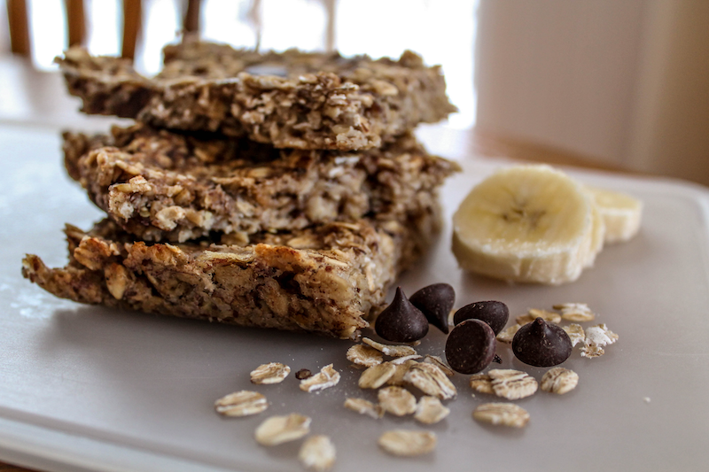 Banana Oat On the Go Breakfast Bars