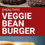 healthy veggie bean burger