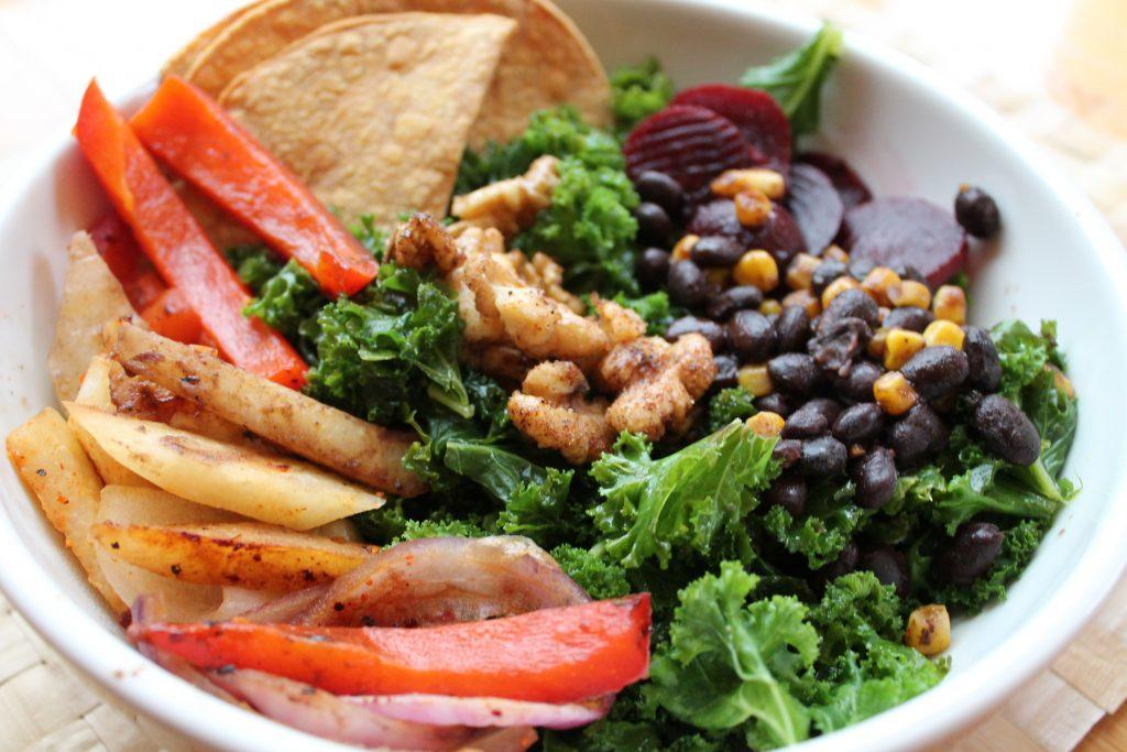 cilantro lime kale bowl with veggies.JPG