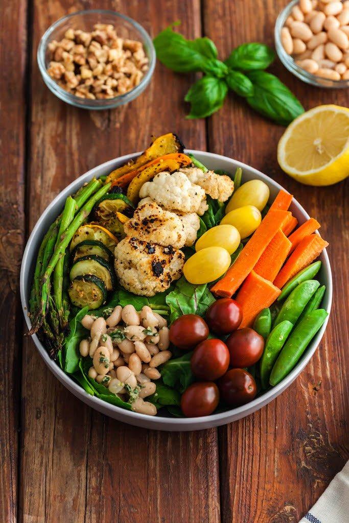 lemon herbed pesto salad-14