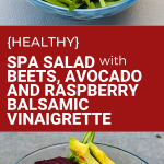 healthy spa salad with beets