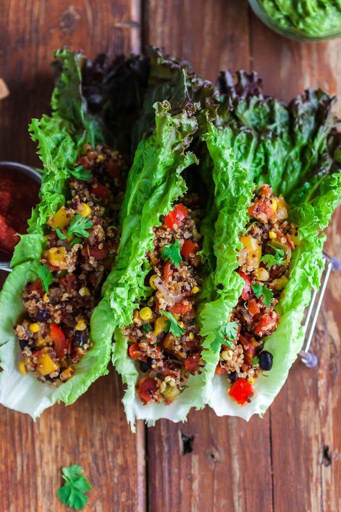 quinoa taco lettuce wraps-10