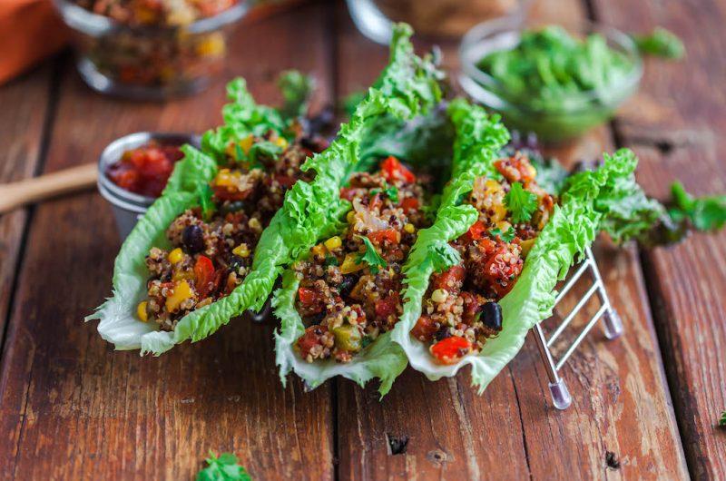 Vegan Quinoa Taco Lettuce Wrap