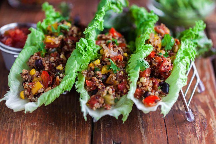 quinoa taco lettuce wraps