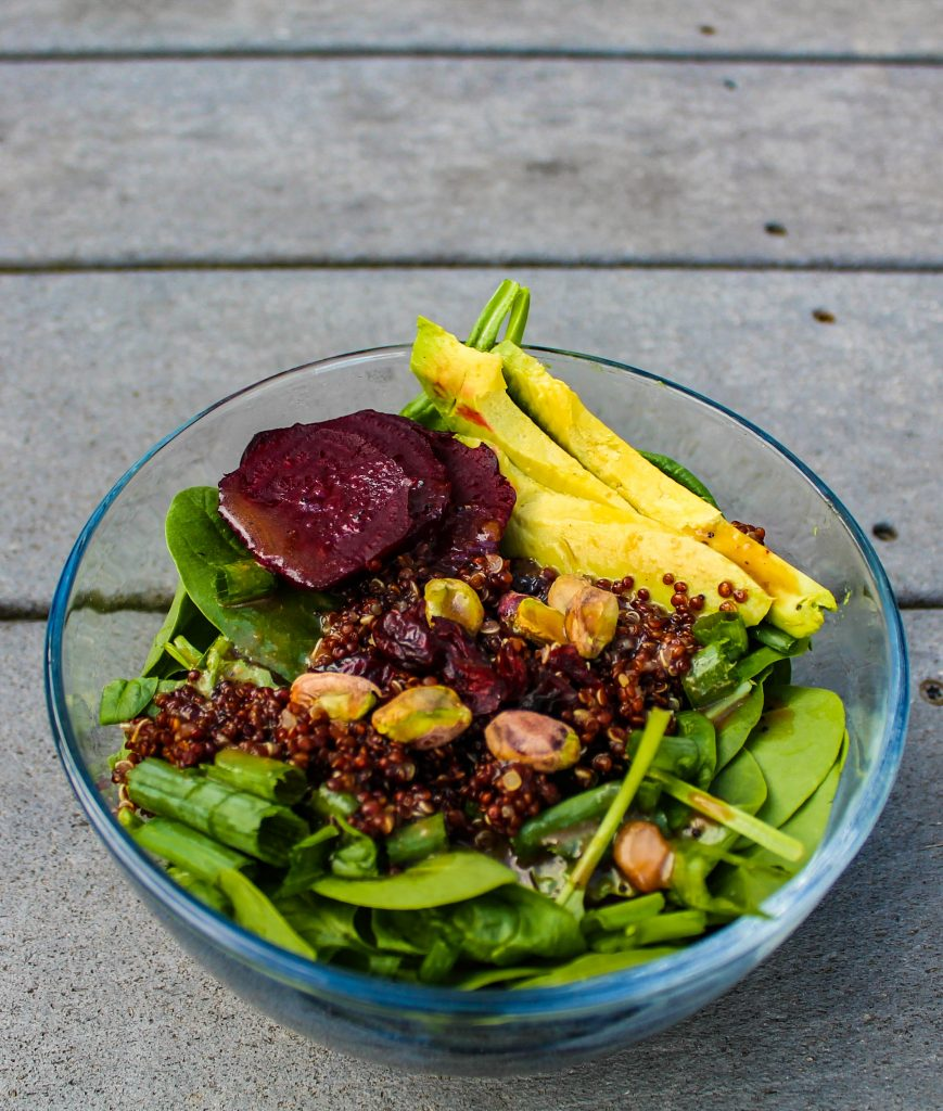 spa salad with beets quinoa and pistachios-2