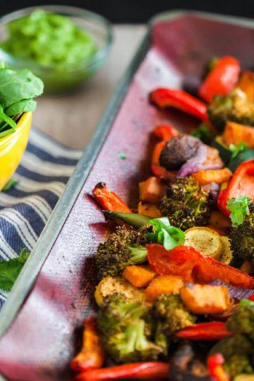 spicy sweet vegan taco bowl