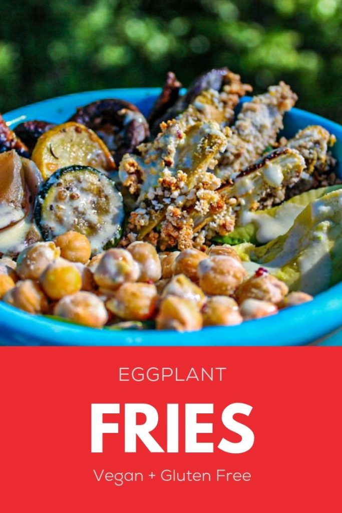 Vegan Eggplant Fries with Aquafaba Ranch