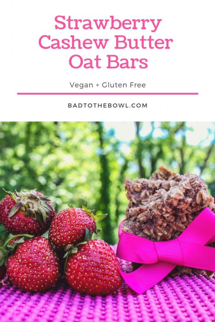 Strawberry Cashew Butter Oat Bars