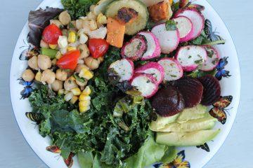 vegan grilled radishes salad