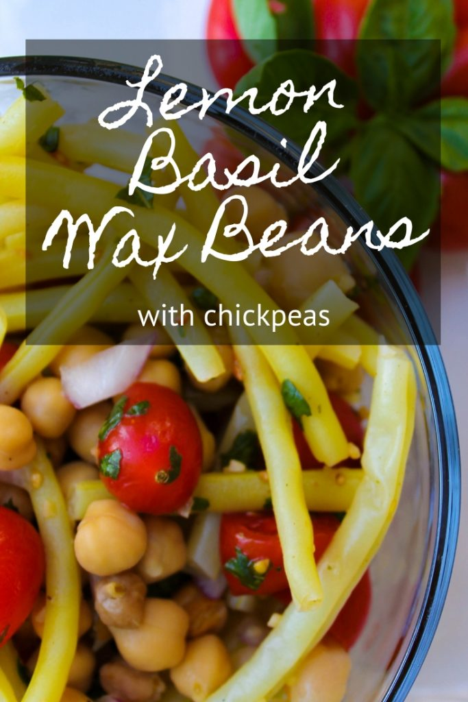 Lemon Basil Wax Beans with Chickpeas
