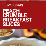 healthy peach oat breakfast slices