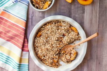 peach crumble breakfast slices