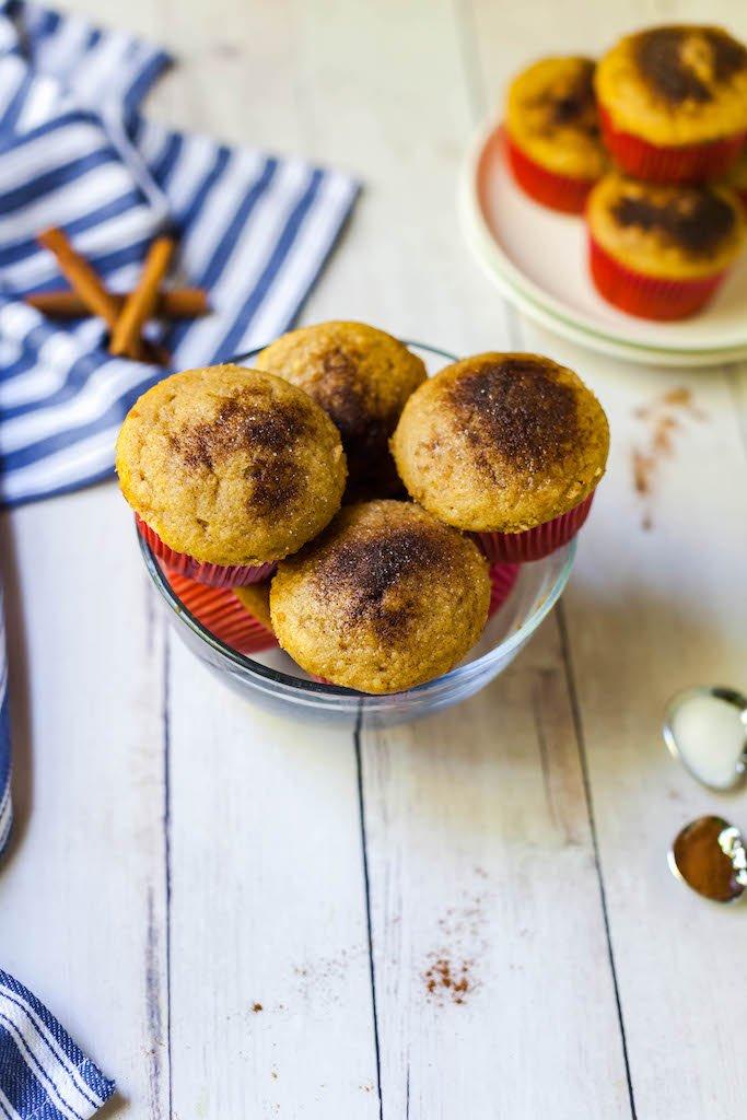 vegan cinnamon sugar muffins