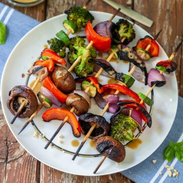 vegan thai kabobs with basil peanut glaze-4