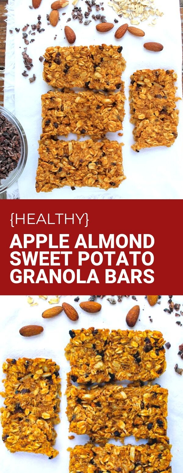 Healthy Apple Almond Sweet Potato Granola Bars