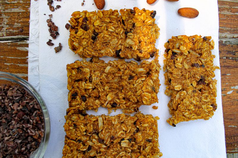Apple Almond Sweet Potato Granola Bars