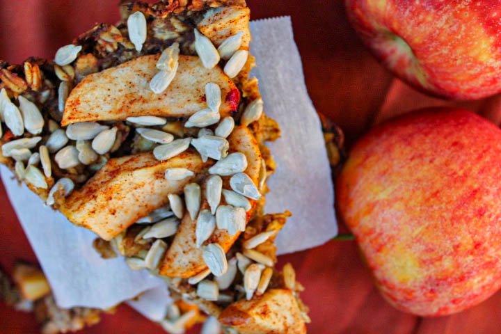 apple oat sun butter bars