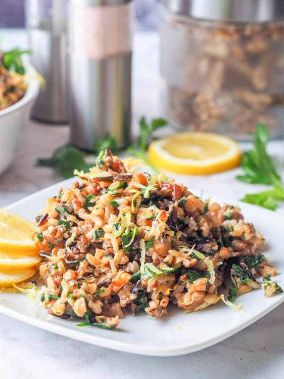 Wild Rice Salad with Walnuts, Lemon and Parsley