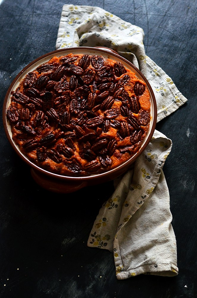 maple pecan sweet potato pie
