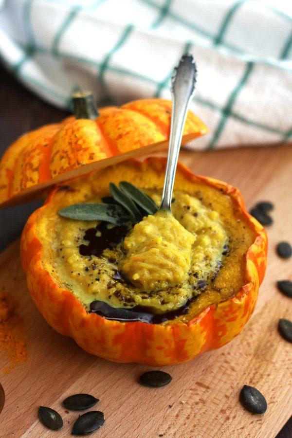 millet pumpkin soup