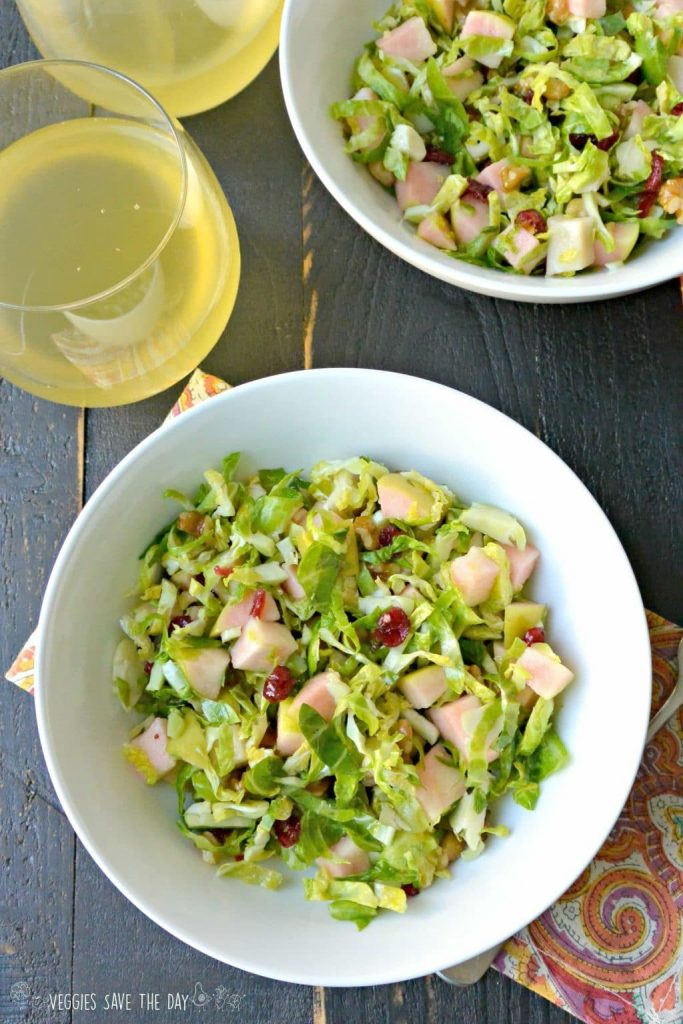 Raw Brussel Sprouts and Apple Salad