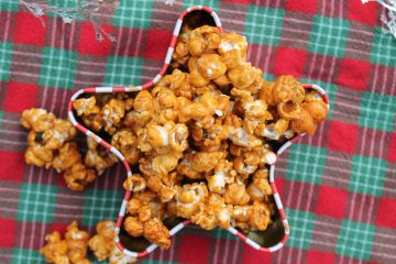 candied eggnog popcorn
