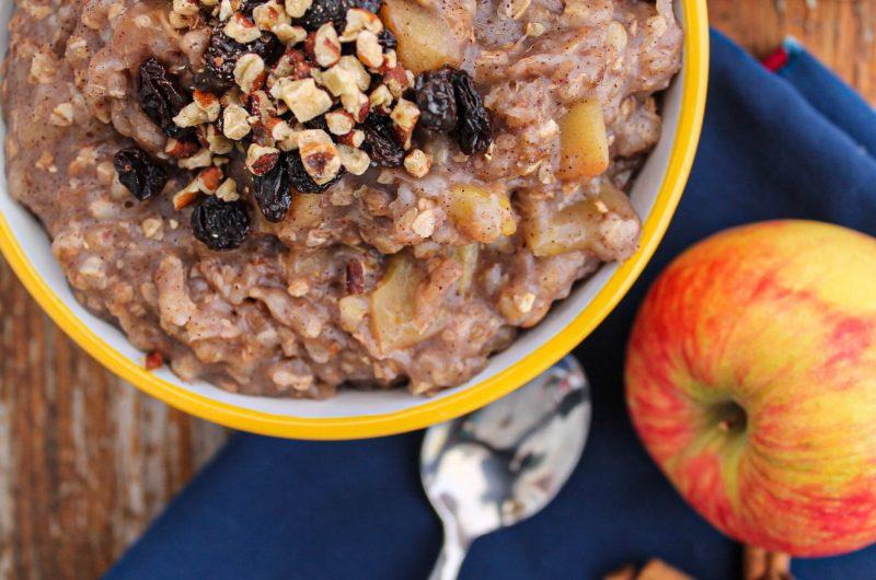 Crockpot Apple Cinnamon Creamy Buckwheat Porridge (Vegan + Gluten Free)