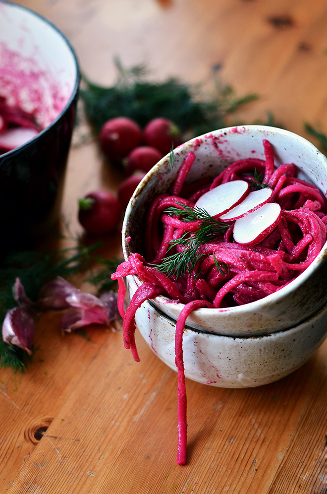 beetroot dill linguine