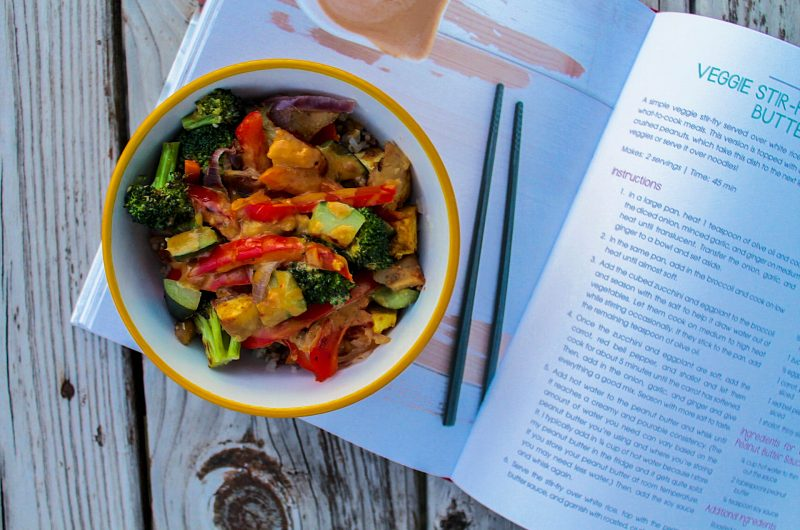 Veggie Stir-Fry with Peanut Butter Sauce + The Veginner's Cookbook Giveaway!