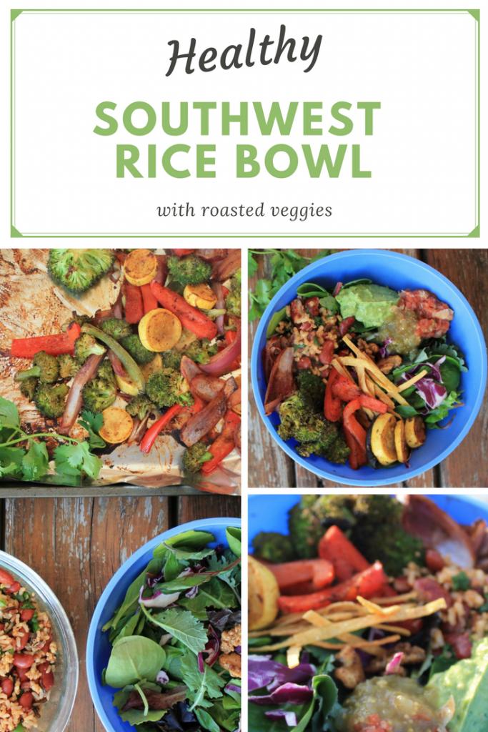 Southwest Rice Bowl with Roasted Veggies