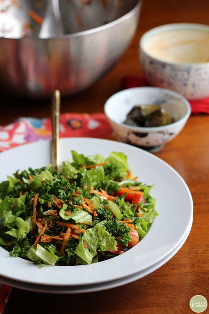 kale and wheatberry salad