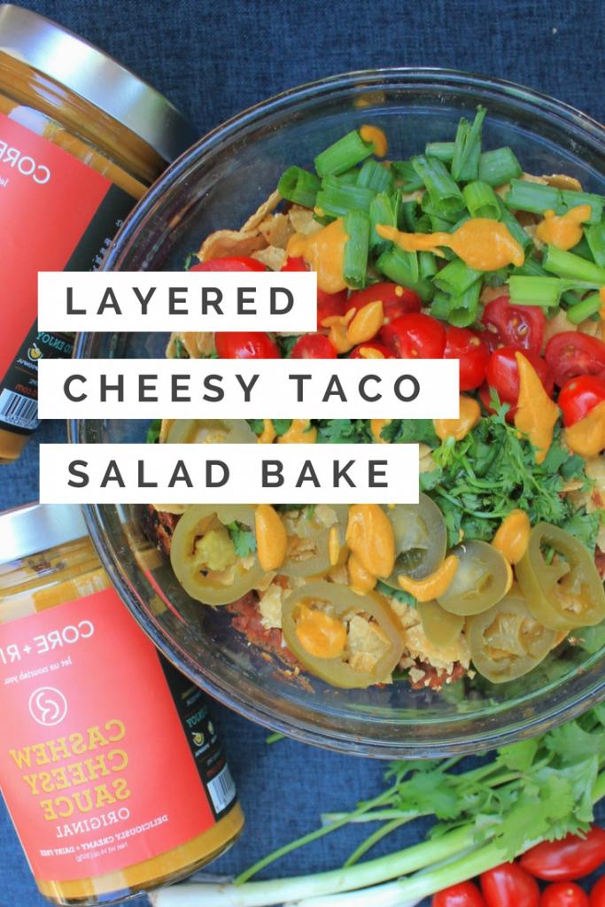 Layered Cheesy Taco Salad Bake