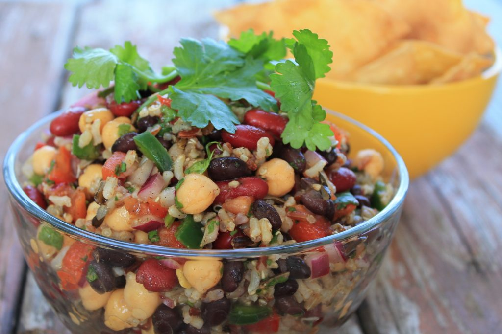 Wild Rice, Bean and Veggie Salad