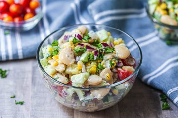 creamy cucumber tomato corn and cucumber salad-3