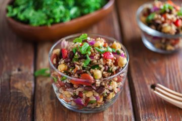 vegan-wild-rice-bean-vegetable-salad