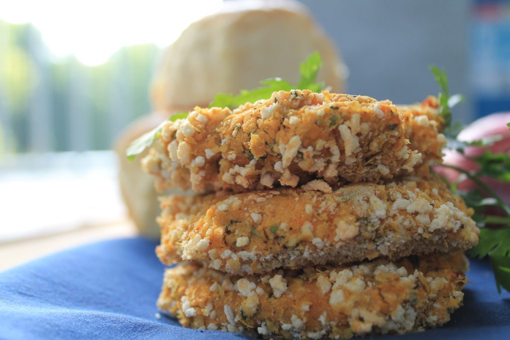 Sweet Potato Ranch Chickpea Burgers