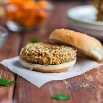 ranch chickpea burgers
