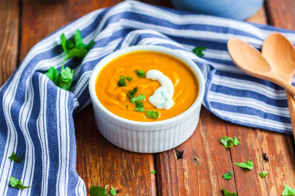 butternut squash curried soup-5