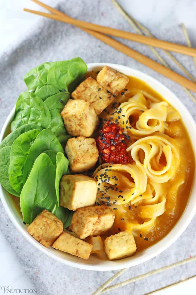 Butternut Squash Noodle Bowl with Tofu