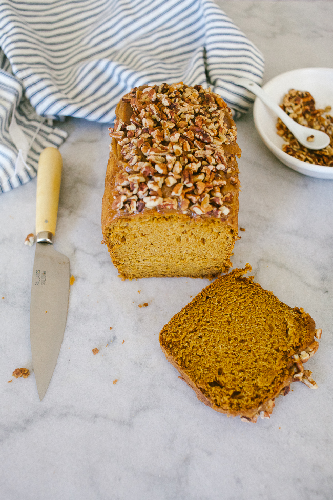 Pumpkin Loaf with Caramel Crunch Topping