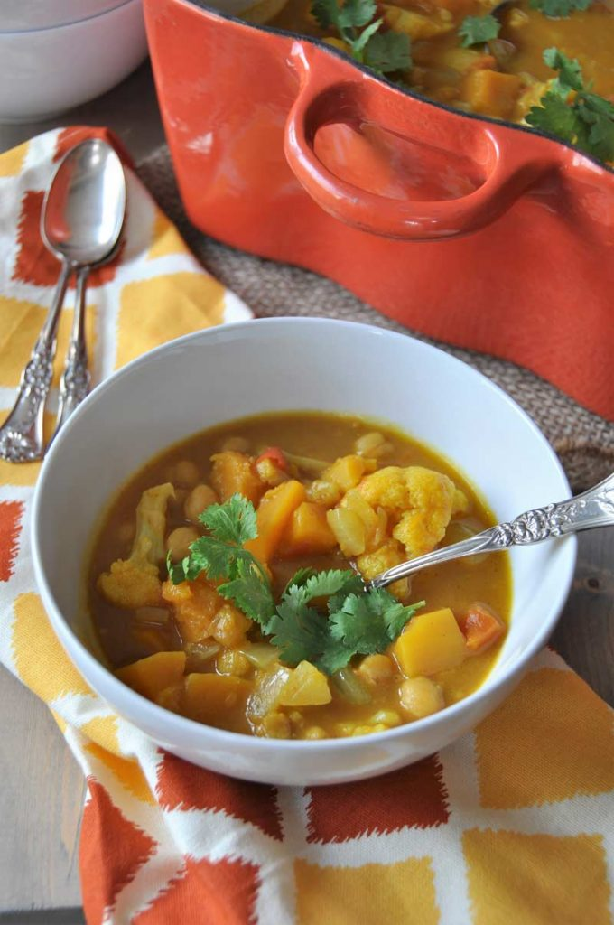Curried Pumpkin and Butternut Squash Stew