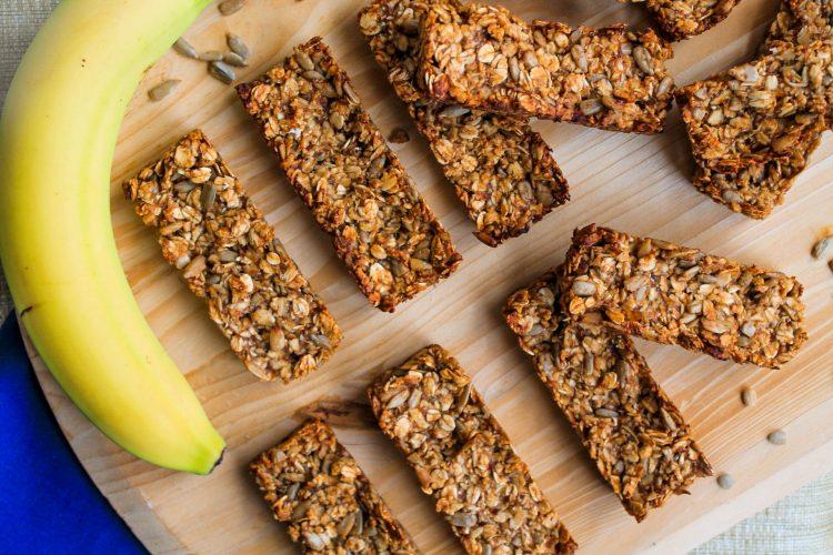 banana oat seed bars
