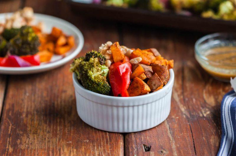 Maple Mustard Roasted Vegetable Sheet Pan Supper