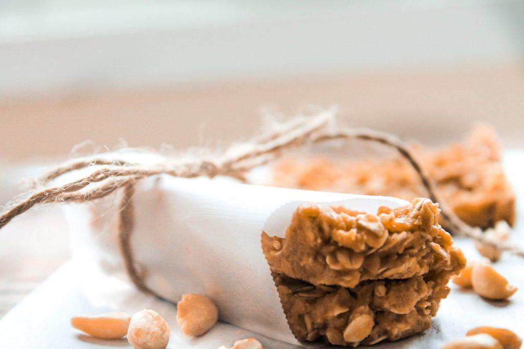 No Bake Peanut Butter Protein Bars (V, DF, GF)