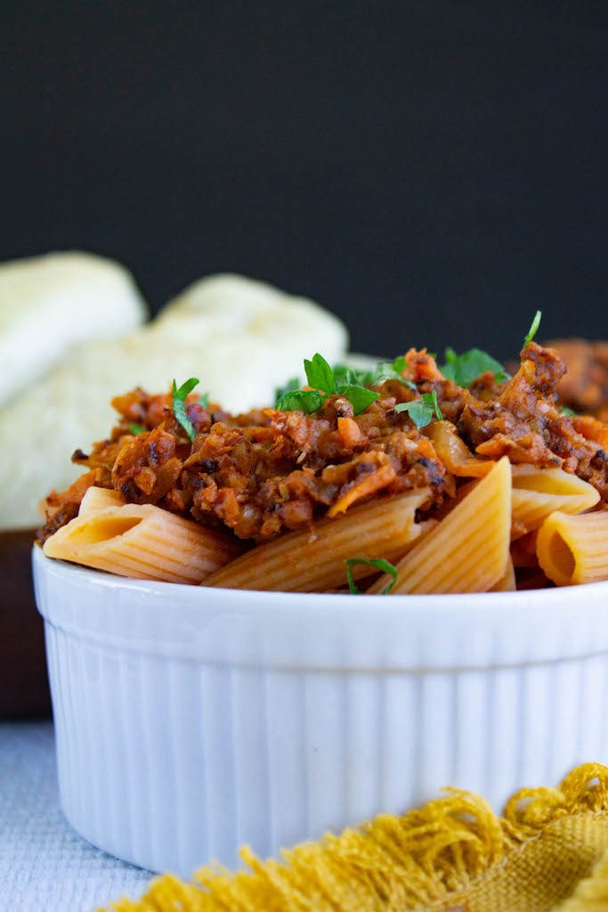 cauliflower walnut bolognese