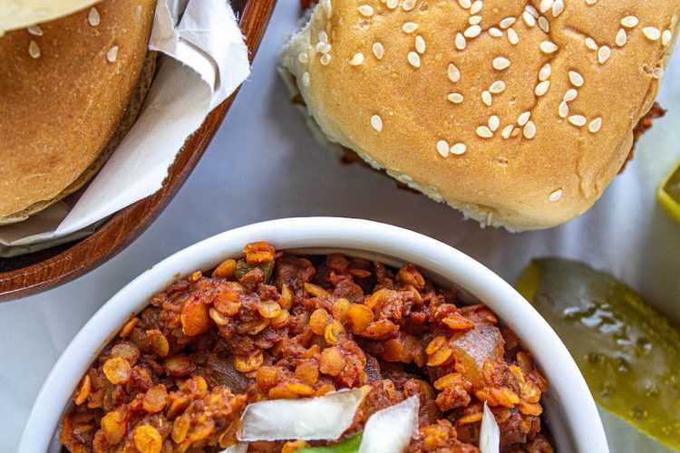 red lentil sloppy joes