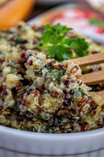 5 ingredient salsa verde quinoa