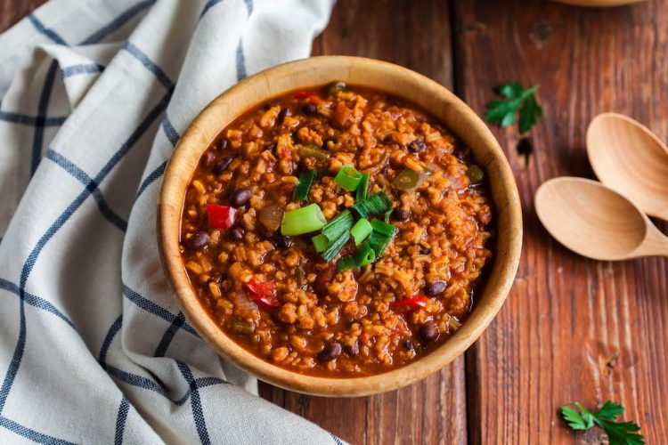 one pot unstuffed pepper soup with rice